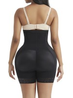 Black High Waist Hooks Butt Lifter With Pad Curve Shaper