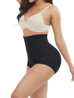 Slimming Waist Black High Rise Seamless Panty Solid Color Figure Slimmer