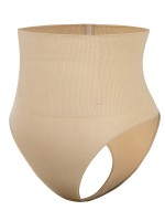 Nude 4 Steel Bones High Waist Shapewear Thong Body Slimmer