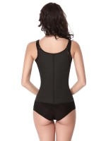 Black Zip and Clip Slimming 7 Steel Bone Waist Trainer Vest