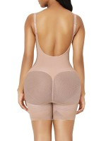 Skin Color Full Body Tummy Shapewear Adjustable Straps Tummy Slimmer