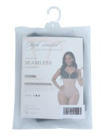 Black Plus Size Seamless Shapewear Bodysuit Anti-Slip Slim Waist
