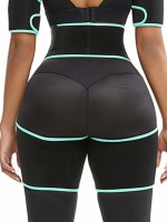 Thigh Trainer Light Green Sticker Cut Out Patchwork Firm Foundations