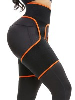 Slimmed Orange Neoprene Thigh Shaper High Waist Undergarment