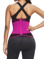 Rose Red Neoprene Waist Cincher 10 Steel Bones Sticker High-Compression