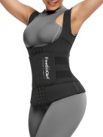 Cellulite Reducing Black Neoprene Waist Trainer Vest With Feelingirl Logo
