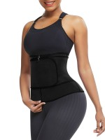 Big Size Waist Trainer Black 3 Steel Boned Neoprene Slimming Waist