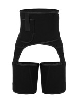 Remarkable Black Neoprene Thigh Shaper Adjustable Sticker Leisure