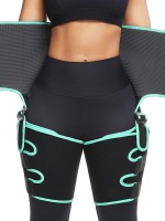 Thigh Trimmer Light Green Neoprene High Waist Tummy Control