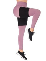 Black 1 Pair Neoprene Thigh Trimmer With Sticker Legs Shaping