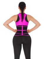 Rose Red Double-Belt Neoprene Waist Shapewear Vest Basic Shaping