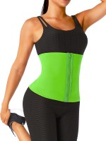 Green No Steel Bone Neoprene Waist Trainer Curve Shaper