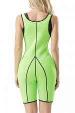 Anti-Cellulite Plus Green Thigh Bodysuit Shaper Open Bust