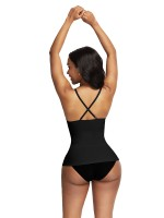 Fabulous Black Cross Back Seamless Vest Shapewear Slimmer