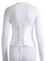 White Long Sleeve Jumpsuit Corset 2 Pieces Set Fashion Trend