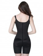 Black Plus Size Latex Slim Full Body Shaper Waist Cincher Vest