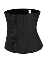 Essential Black 29 Steel Bones Latex Hooks Waist Trainer Waist Control