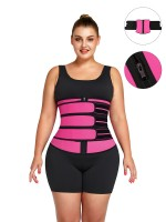 Rose Red Tummy Waist Trainer 7 Steel Bones Latex Zipper Waist Sculpting