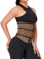 Charming African Print Latex Waist Trainer Double-Belt Comfort
