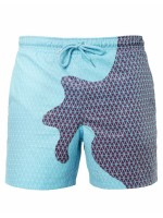 Enthralling Male Swim Shorts Change Color Quick Dry All-Match Style