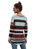 Naughty Shirt Stripe Paint Hip Length Sexy Ladies