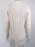 Appropriate Off-White Full Sleeve Cardigan Side Pockets Button Leisure