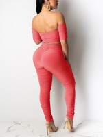 Paradise Watermelon Red Backless Shirt High Waist Leggings Best Materials