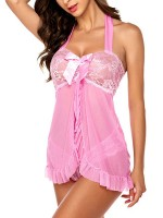Mystical Pink Slit Babydoll Patchwork Hip Length Garment