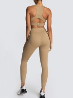 Brown High Waist Full Length Athletic Suit Fashion Ideas