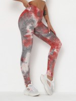 Stretch Gray Full Length Sports Legging High Rise Good Elasticity