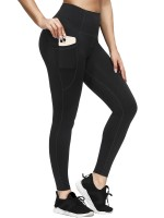 Comfy Black High Rise Yoga Legging Ankle Length Stretch Material