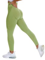 Captivating Green Butt Enhance Full Length Yoga Legging