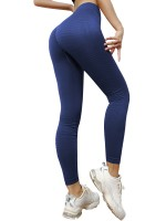 Funny Blue Sports Leggings High Rise Ankle Length Sport Series