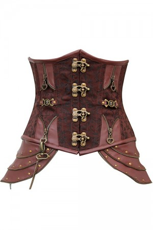 Wholesale Brown Simming Steampunk Underbust Corset Online