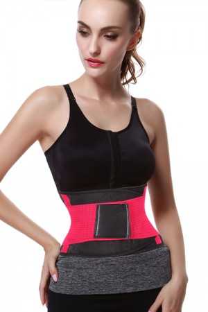 Rose Red Gym Sticker Weight Loss Curves Waist Trimmer Belt