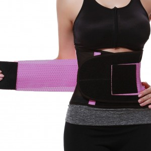 Purple Fitness Waist Trainer Girdle With Sticker Queen Size Tummy Control