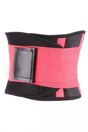 Shinning Pink Workout Waist Trimmer For Weight Loss