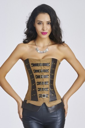 12 Plastic Boned Women Corset With Lace Up Back