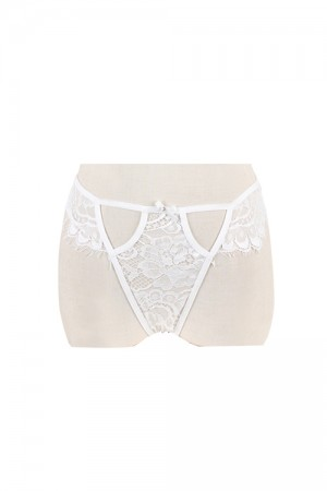 Hollow Out Hot Sexy Women White Lace Panty