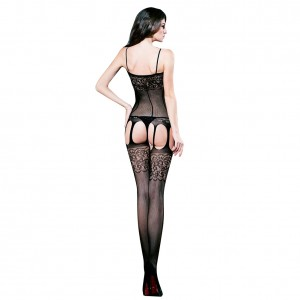 Wholesale Sheer Sexy Cheap Black Bodystocking Lingerie