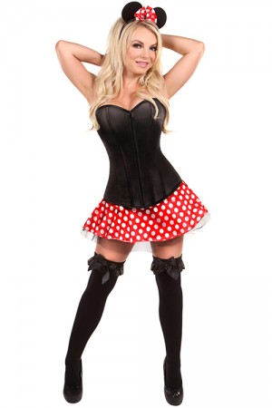 Cute Mouse Black Corset Lingerie Halloween Costume