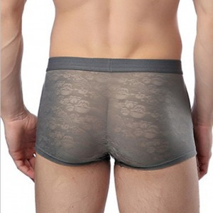 Skinny Men's Lace Boxer Briefs Trunks Shorts Underwear