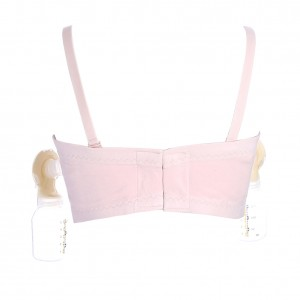 Easy Front Zipper Breastmilk Pumping Maternity Nursing Bra