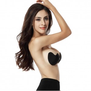 Sassy Black Strapless Invisible Seamless Bra Push Up