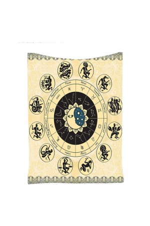 Polyester Versatile Horoscopes Moon Signs Tapestries