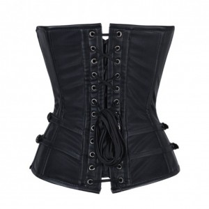 Charming Black Overbust 11 Steel Bones Steampunk Corset