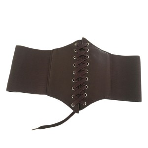 Graceful Dark Coffee Elasticated Belt Cinch Waist