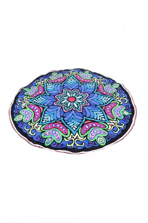 Gorgeous Polyester Floral Beach Towel Round
