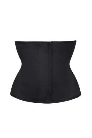 Stretchable Black Plus Sticker Closure Waist Slimmer Shaper