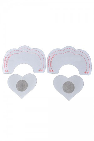Distinctive Nude Heart Shape Self-Adhesive Nipple Cover Inner